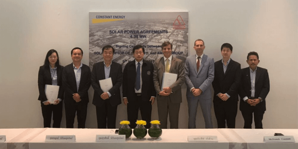 Ampas and Constant Energy affiliates execute long term corporate Power Purchase Agreements for 7 factories in Thailand