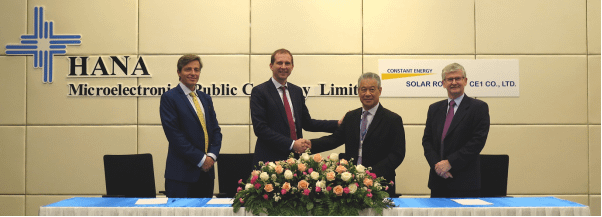Hana Microelectronics and Constant Energy affiliates execute 2 solar corporate PPAs in Thailand