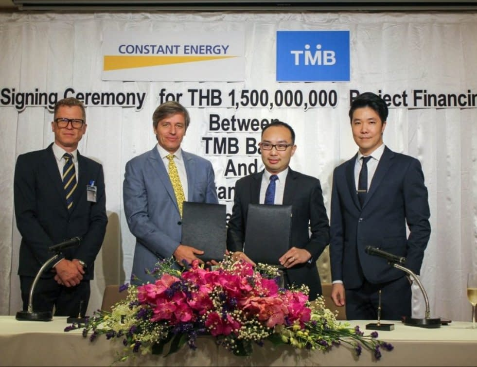 TMB Bank PLC backs Constant Energy, the Southeast Asian solar power producer, with a THB 1.5 billion (approx. US$50 million) project finance green loan facility, the largest in Thailand to date for commercial and industrial (C&I) solar plants, for the expansion of Constant Energy's growing C&I portfolio in Thailand
